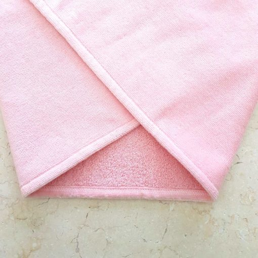 Bonny Bunny Baby Towel pink towelling fabric close up