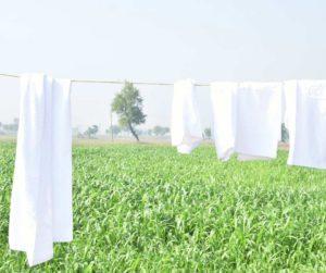 Towel washing instruction