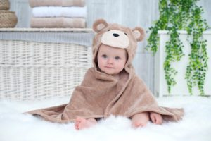 Toffee Teddy baby towel
